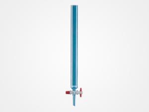 Columnas para cromatografía con filtro de vidrio y llave de teflón